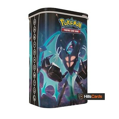 Pokemon TCG Dawn Wings Necrozma Deck Shield Tin: 2 Booster Packs - Card Case Box