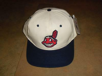 6bccdb6a4e325 Cleveland Indians hat SNAPBACK RARE NWT w  tags Chief Wahoo cap 90s vintage  DS