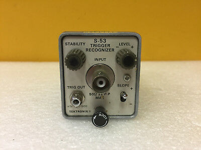 Tektronix S-53 DC to 1 GHz, BNC (F) Trigger Recognizer Plug-In. For 7S12. Tested
