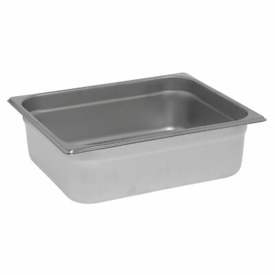 "HUBERT Steam Table Pan, 1/2 Size 22 Gauge Stainless Steel - 4""D"