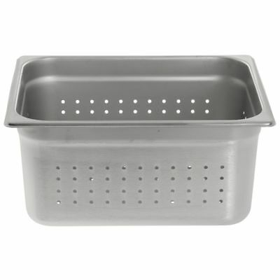 "HUBERT Perforated Steam Table Pan , 1/2 Size 22 Gauge Stainless Steel - 6""D"