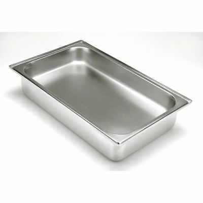 "HUBERT Chafer Water Pan Full Size 22 Gauge Stainless Steel - 4 3/8""D"
