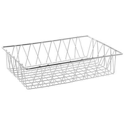 HUBERT Commercial Wire Display Basket Rectangular Chrome Plated Pastry Basket