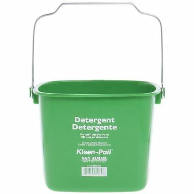 San Jamar KP256 Green Kleen Pail Disposable Container, 8qt Capacity, For