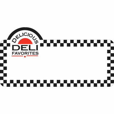 Write On Deli Tag With Deli Delicious Imprint White Heat Resistant Merchandising