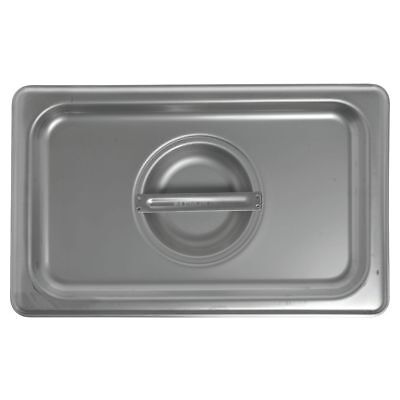 HUBERT Steam Table Pan Cover For 1/4 Size Pans 24 Gauge Stainless Steel