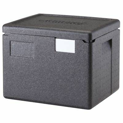 "Cambro EPP280110 Cam GoBox Black Plastic Top Loading Half Pan Carrier - 15 2/5""L"