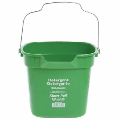 San Jamar KP320 Green Kleen Pail Disposable Container, 10qt Capacity, For