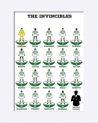 Personalised Subbuteo Style Dream Team Art A3 Print -Pick Your Own Players & Kit