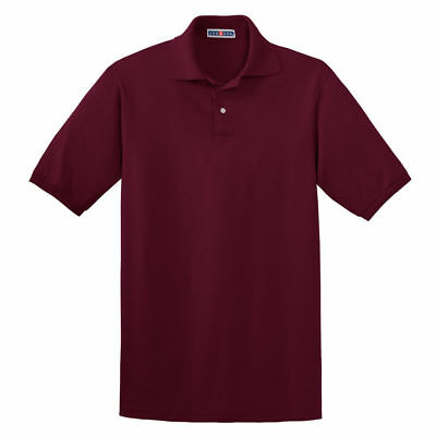 Chef Revival Jerzees Maroon Poly Cotton Unisex Polo Shirt - Medium CR437M-M-MED