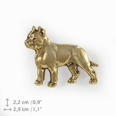 Cane Corso (body), gold covered pin, high qauality Art Dog UK