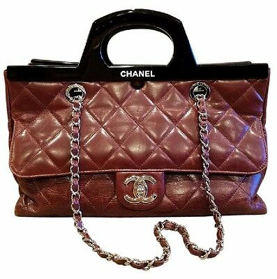 bd026b0bf6be Chanel CC Delivery Small Burgundy Calfskin Tote bag- RARE, Limited Edition