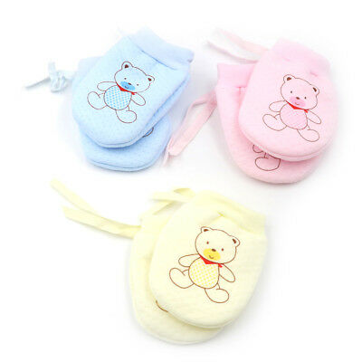 Cute Baby Infant Boys Girls Anti Scratch Mittens Soft Newborn Baby Gloves M&R