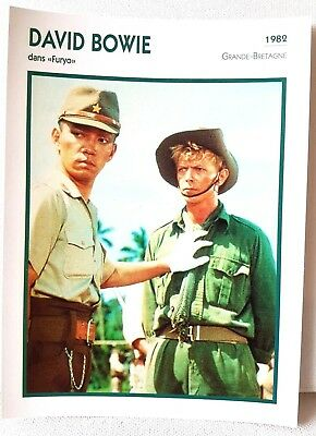 DAVID BOWIE Furyo 1982 Actor Movie Star FRENCH ATLAS PHOTO BIO CARD
