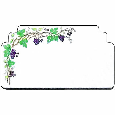 Write On Deli Tag With Grapevine Desing White Heat Resistant Merchandising Tag -