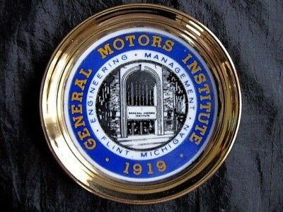 Xxrare Historical 1920's General Motors Institute Advertising Coin Tip Tray!!!