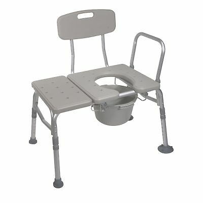 Transfer Shower Bench Tub Chair Safety Bathroom Seat Bath Commode Opening