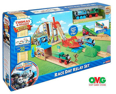 New - Thomas & Friends Wooden Railway Race Day Relay Set - Free Shipping