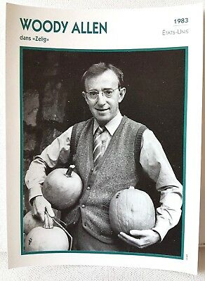 WOODY ALLEN Zelig 1983 Actor Movie FRENCH ATLAS PHOTO BIO CARD