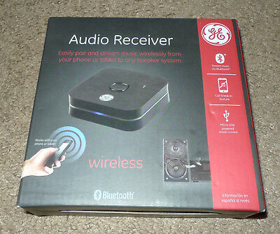 New in Box NIB GE General Electric Bluetooth Audio Receiver Android Apple 11081