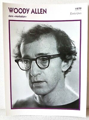 WOODY ALLEN Manhatten 1979 Actor Movie FRENCH ATLAS PHOTO BIO CARD