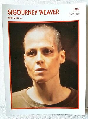 SIGOURNEY WEAVER Alien 3 1992 Actor Movie FRENCH ATLAS PHOTO BIO CARD