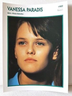 VANESSA PARADIS 1989 Actor Movie FRENCH ATLAS PHOTO BIO CARD