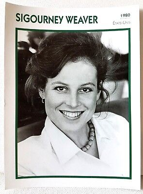SIGOURNEY WEAVER 1980 Actor Movie FRENCH ATLAS PHOTO BIO CARD