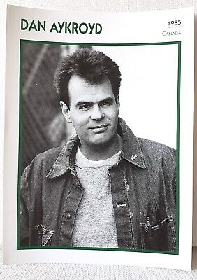 DAN AYKROYD 1985 Actor Movie FRENCH ATLAS PHOTO BIO CARD