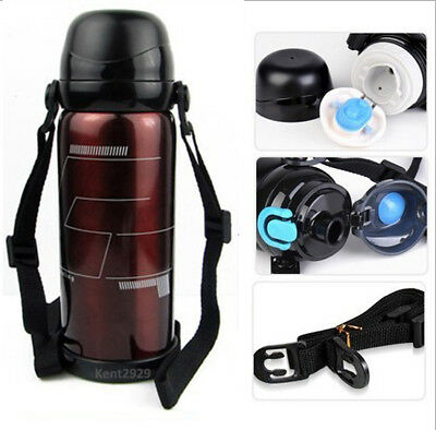 Stainless Steel Vacuum Thermos Insulated Water Bottle Flask Travel Coffee Mug