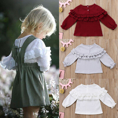 UK Stock Newborn Baby Girl Kids Summer Casual T-shirt Blouse Clothes Shirt Tops