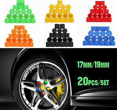 20Pcs Silicone Car Wheel Nut Lug Dust Cover Cap Protector Bolt Hub Screw Rim