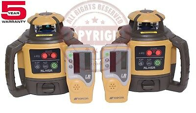 2 New Topcon Rl-H5A Self-Leveling Rotary Grade Laser Level, Slope, Transit