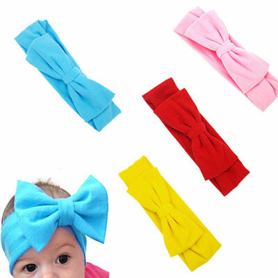Girls Kids Baby Toddler Infant Turban Knot Headband Bow Hairband Head Band