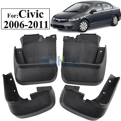 A Set Splash Guards Fit For 2006-2011 Honda Civic Mud Flap Kit Mudguard Flaps