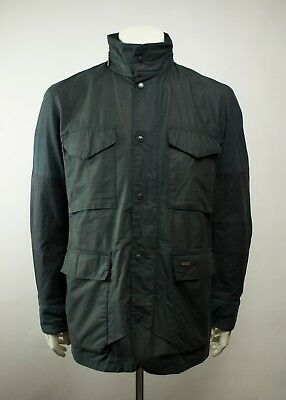 Barbour Tailored Sapper Waxed Jacket Navy Size XL