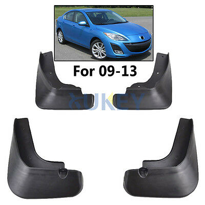 Fit For Mazda 3 Bl 4-Dr Sedan 2009-2013 Mud Flaps Flap Splash Guards Mudguards