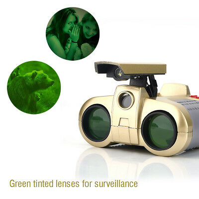 Night Vision 4 x 30mm Surveillance Pop-up Light Scope Telescope Binoculars JA