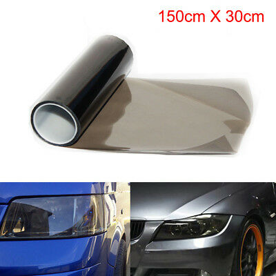 30cm x 150cm Light Smoke Black Tint Film Headlights Tail lights Car Vinyl Wrap