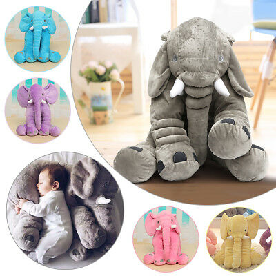 Long Nose Elephant Pillow Soft Cushion Stuffed Baby Kids Plush Doll Toy Gift US