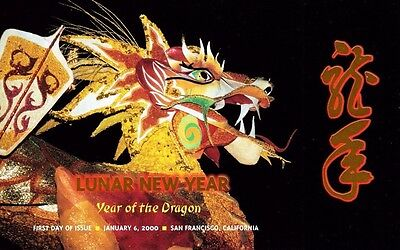 USPS First Day of Issue Ceremony Program #3370 Chinese New Year Dragon 2000