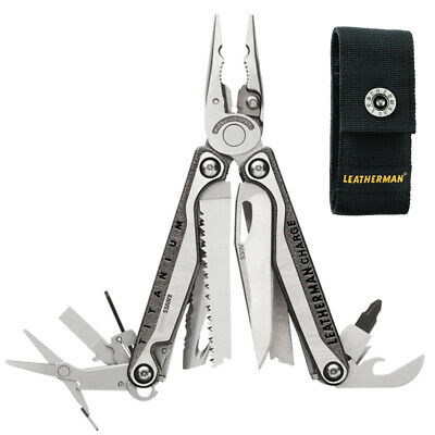 New 2018 Latest Leatherman Charge Tti + Plus Titanium Multi-Tool + Sheath