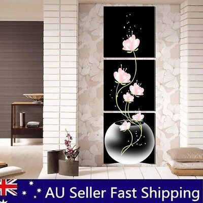 Modern Black Abstract Art Canvas Oil Painting Picture Print Home Room Wall Decor