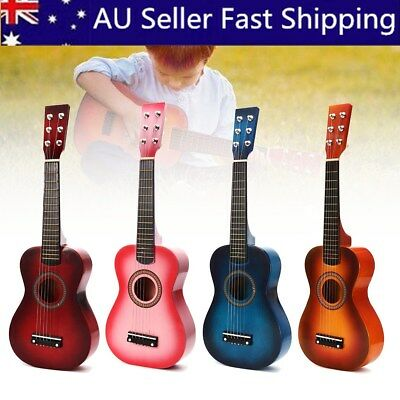 23'' Childrens Kids Wooden Acoustic Guitar 6 String Musical Instrument Child Toy