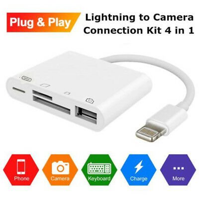 3 in 1 Camera Connection Kit USB TF SD Card Reader for iPad iPhone IOS 11 USA