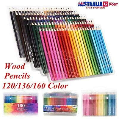 Art 120/136/160 Colored Pencils Set Artist Painting for Adult Kids Coloring Book