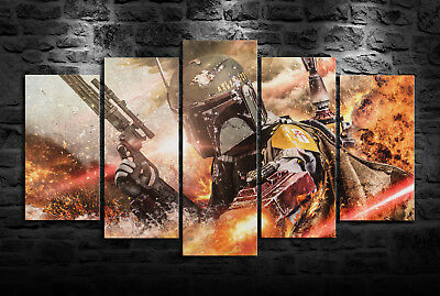 HD Print Oil Painting Home Decor on Canvas Boba Fett Multiple Size Options
