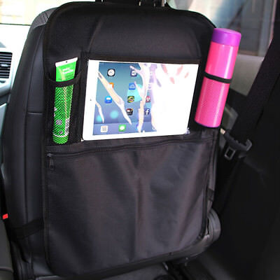 Car Kick Mats Back Seat Scuff Protector Child iPad Bottle Storage Organiser
