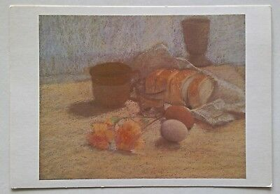 Still life with eggs and carnations Pastel by Kay Noonan Postcard (P277)