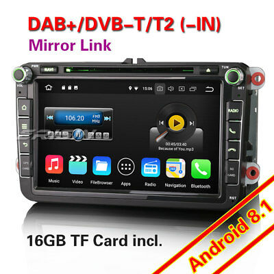 Android 8.0 Autoradio Für VW Passat Golf Polo Tiguan Eos Seat GPS DAB+OPS DTV CD